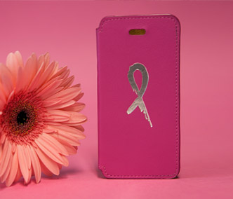 Pink case with ribbon